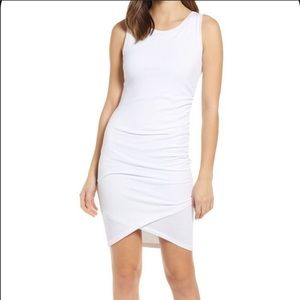 Leith White ruched bodycon tank casual dress (L3/5